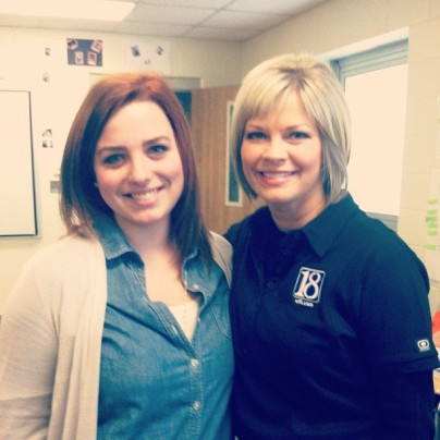 Gina Quattrocchi (local news anchor) and I in my senior year journalism class. I got to job shadow her and it was amazing.