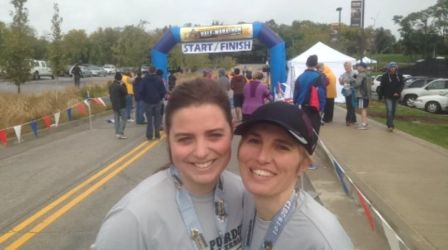 Age 18: My body can do wonderful things. Last October, I ran a half marathon with my mother.