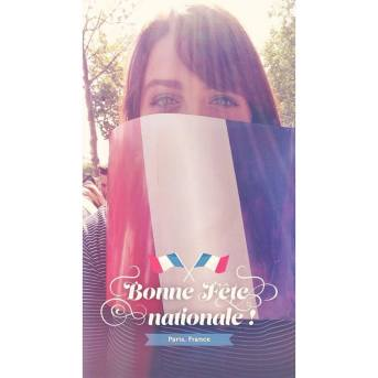 Me being (or more like trying to be) French on Bastille Day - 14.07.2015
